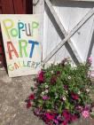 Pop Up Art sign